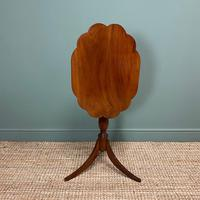 Victorian Mahogany Antique Tripod Occasional Wine / Lamp Table (6 of 6)