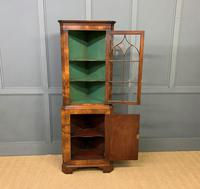 Good Burr Walnut Corner Cabinet (6 of 7)