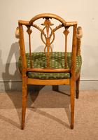 19th Century Carved Armchair in Satin Birch & Satinwood (5 of 7)