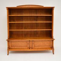 Antique Swedish Biedermeier Satin Birch Bookcase (11 of 12)