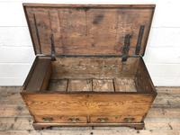 18th Century Elm Mule Chest with Hinged Top (8 of 14)