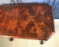 Victorian Burr Walnut Stretcher Table (6 of 9)