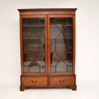 Antique Georgian Mahogany Astral Glaze Bookcase (9 of 12)