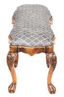 Fine George 1st Revival Walnut & carved 6 leg foot stool (2 of 6)