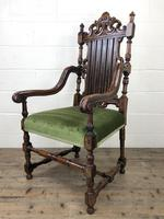 Victorian Carved Oak Armchair (5 of 10)
