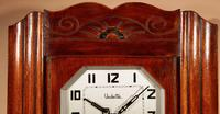 Art Deco Westminster Vedette Carillon Oak Wall Clock French c.1935 (3 of 13)
