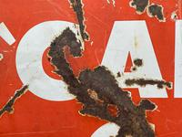 Vintage Original English 1950's Enamel Advertising Sign Calor Gas Stockist (17 of 22)