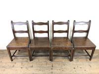 Set of Four 19th Century Oak Farmhouse Chairs (M-189) (17 of 17)