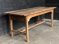 Antique 19th Century Farmhouse Kitchen Dining Table