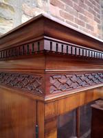 Chippendale Style Glazed Mahogany Bookcase (5 of 10)