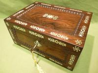Inlaid Rosewood Table Box / Jewellery Box c.1840 (12 of 12)