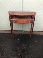 Quality Flamed Mahogany Single Draw Side Table (5 of 7)
