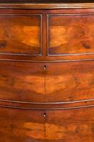George III Period Strongly Shaped Mahogany Serpentine Chest (4 of 4)