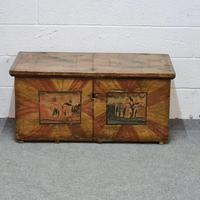 Old Painted Pine Box