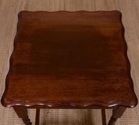 Oak Writing Table Arts & Crafts Side Table Edwardian Slim Petite (3 of 6)