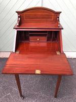 Edwardian Inlaid Mahogany Writing Desk (9 of 10)
