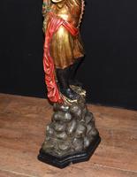Pair of Venetian Blackamoor Figurines - Antique Clam Shell Planter Stands (10 of 11)