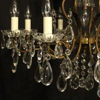 French Gilded 9 Light Birdcage Antique Chandelier (2 of 10)