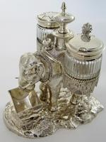 Over Size Victorian Silver Plated Elephant Cruet Set (6 of 8)