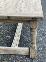 Rustic Bleached Oak French Farmhouse Dining Table (13 of 34)