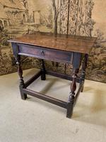 Signed 18th Century Oak Occasional Table (4 of 6)