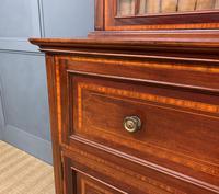 Edwardian Inlaid Mahogany Secretaire Bookcase (8 of 21)