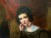 Exquisite Early 1800s Georgian Portrait Oil Painting of Beautiful Seated Lady (7 of 11)