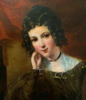 Exquisite Early 1800s Georgian Portrait Oil Painting of Beautiful Seated Lady (6 of 11)