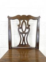 Set of Four Country Oak Dining Chairs (6 of 10)