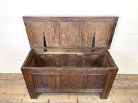 18th Century Carved Oak Coffer (5 of 10)
