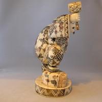 Rare Japanese Bone Okimono of The God 'Daikoku' (4 of 5)