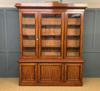 Fine Quality Figured Mahogany Library Bookcase (2 of 17)
