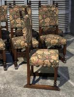 Set of 8 French Oak Dining Chairs (12 of 18)