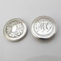 Beautiful Small Round George III Silver Patch Box Joseph Taylor Birmingham c1805 (6 of 7)