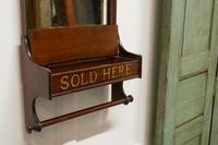 Victorian Mahogany Bathroom Wall Mirror with Towel Rail (4 of 8)