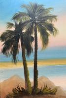 Arabic School - Wonderful Early 20th Century Arabian Camels in Landscape Oil Painting (6 of 12)