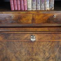 19th Century Walnut Bureau Bookcase (4 of 19)