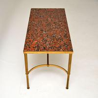 1960's Vintage Italian Brass & Marble Coffee Table (6 of 9)