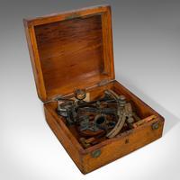 Antique Maritime Sextant, Brass, Admiralty, Naval, Instrument, Victorian c.1900 (7 of 12)