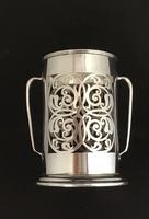 Edwardian Harrods of London Silver Plated Bottle holder.