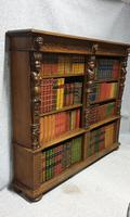 Outstanding Carved Oak Open Library Bookcase (6 of 16)