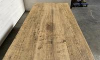 Superb Quality Large Bleached Oak Farmhouse Dining Table (17 of 32)