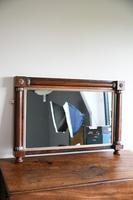 Antique Rosewood Gilt Overmantle Mirror