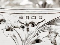 Edwardian Silver Rose Bowl Embossed with Flowers and Scrolls (4 of 5)