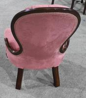 1920s Pink Upholstered Mahogany Nursing Chair (2 of 2)
