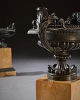 Pair Of Early 19th C Grand Tour Bronze And Sienna Marble Tazzas (4 of 7)
