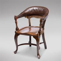 Victorian Hardwood Desk Chair