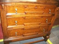 Glazed Oak Bureau Bookcase (6 of 7)