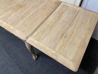 French Bleached Oak Extending Dining Table (10 of 17)
