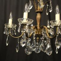 French Gilded 6 Light Chandelier c.1930 (5 of 10)